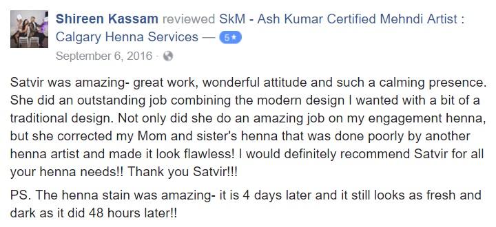 SkM Henna Client Review