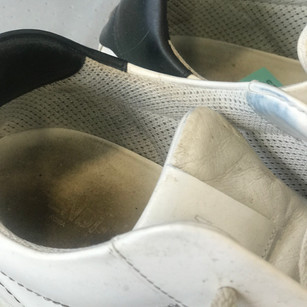 Build up of dirt inside trainer