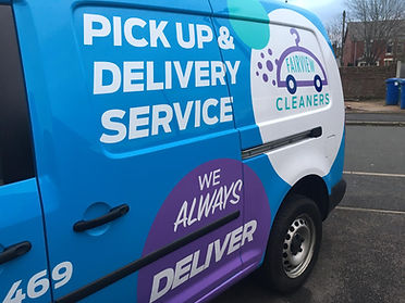 Fairview Cleaners new logo side profile.