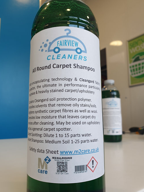 M2Care All Round Shampoo 1ltr - protects carpets