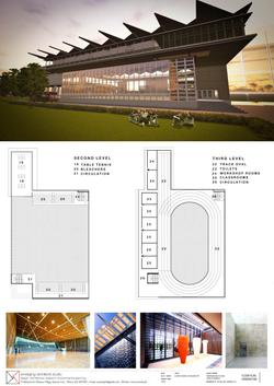 claret multi level sports center