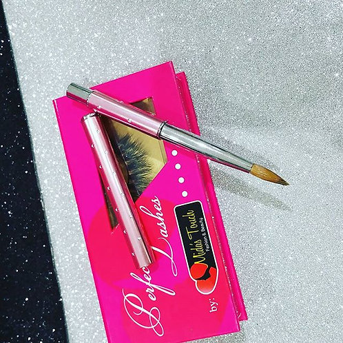 "Acrylic nails brush ""8"" (Lashes not included )"