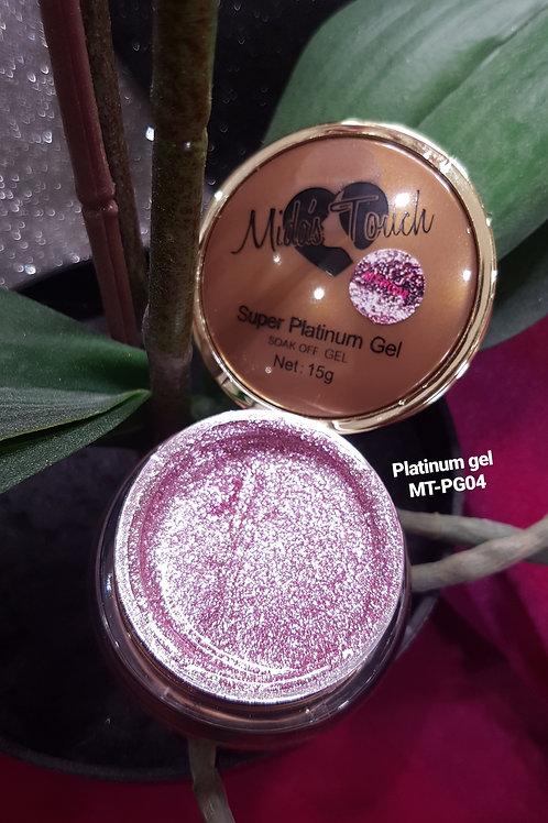 MT-PG04 Rosy Baby Pink Platinum Glitter Gel - 15 grms