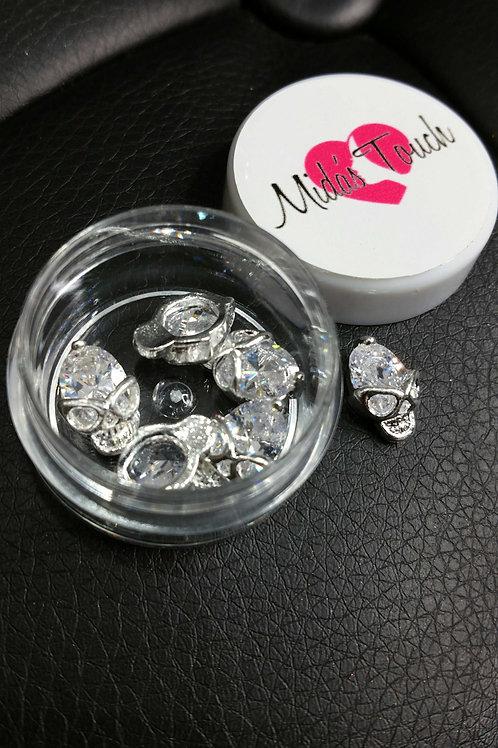MT387C Clear Swarovski Diamond Skull