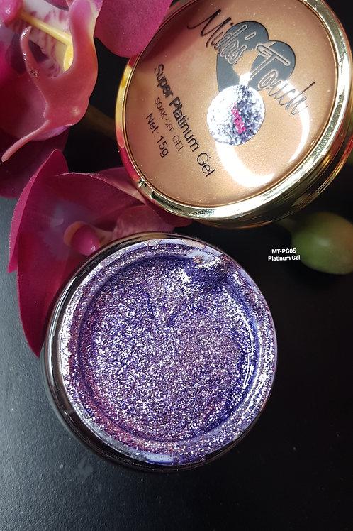 MT-PG05 Violet Platinum Glitter Gel - 15 grms