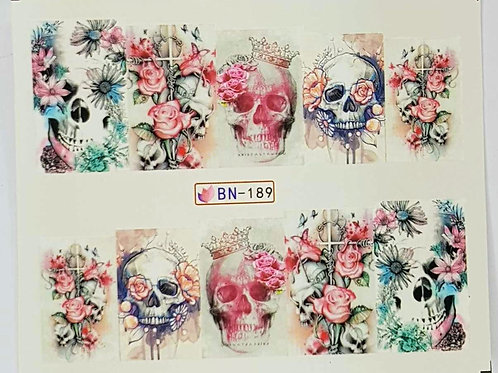 Skull Water Decal BN189