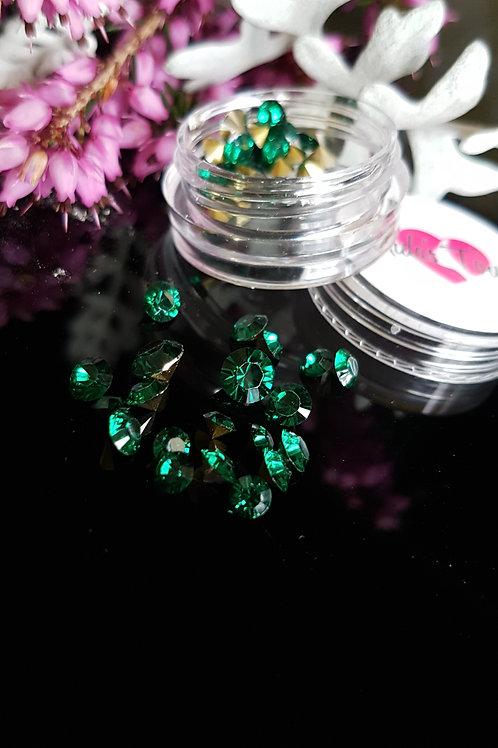 34pc 3D Crystal Rhinestone (Emerald)