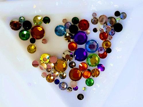 MT345 Mix Colour Rhinestone gems