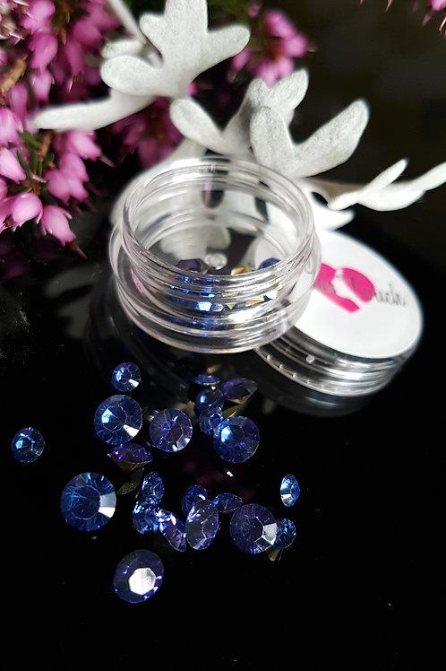 34pc 3D Crystal Rhinestone (Cobalt)