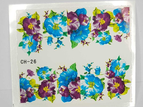 Water Decal Nail Wrap CH-26