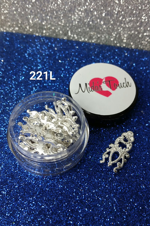Silver Nails Charms  ( 6pc )