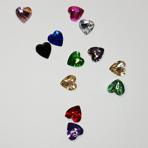MT348 Heart-shape Rhinestone Charms