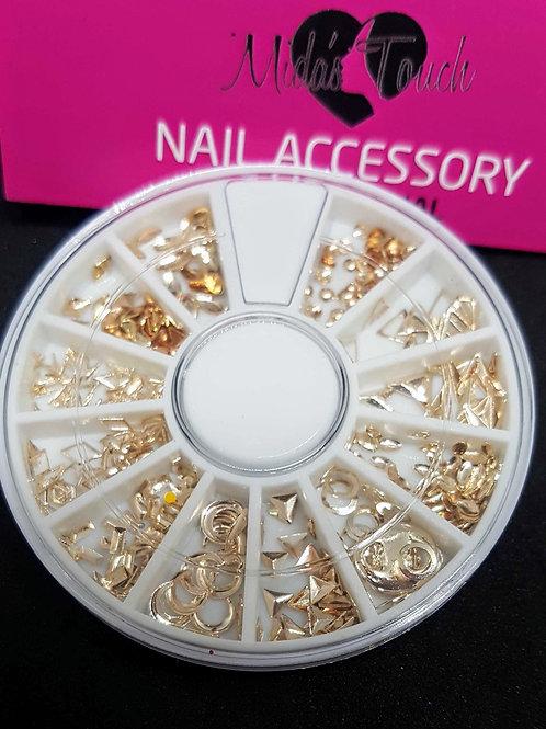 MT379 - Geometry Mix shave nails art alloy
