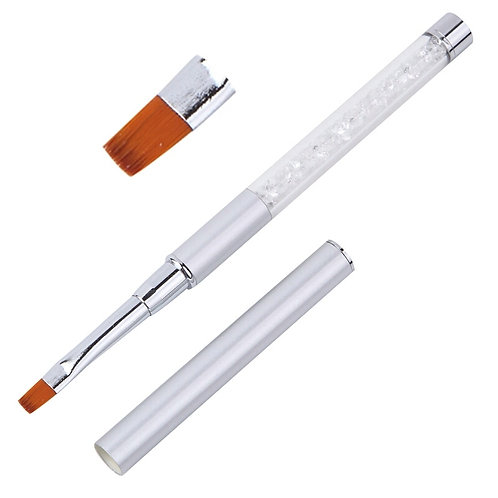 MT20736 Silver - Small Flat Gel brush