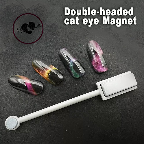 Double headed magnet for cat eye nail gel
