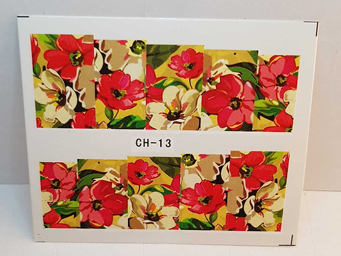 Water Decal Nail Wrap CH - 13