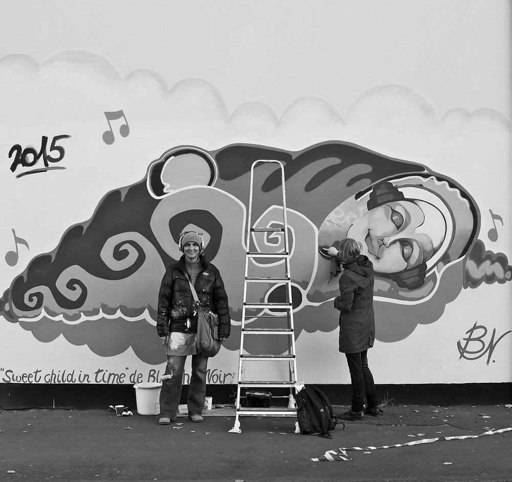 Graffiti by Rika Roth aka Blanche. Kassel. Schillerquartier.Graffiti.Workshops.Kiezkultur.