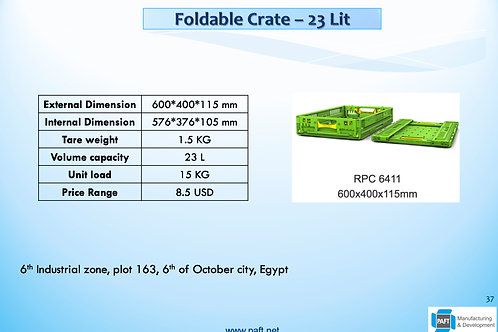 Foldable Crate 11.5cm Height