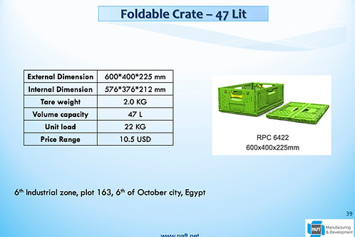 Foldable Crate 22.5 cm Height