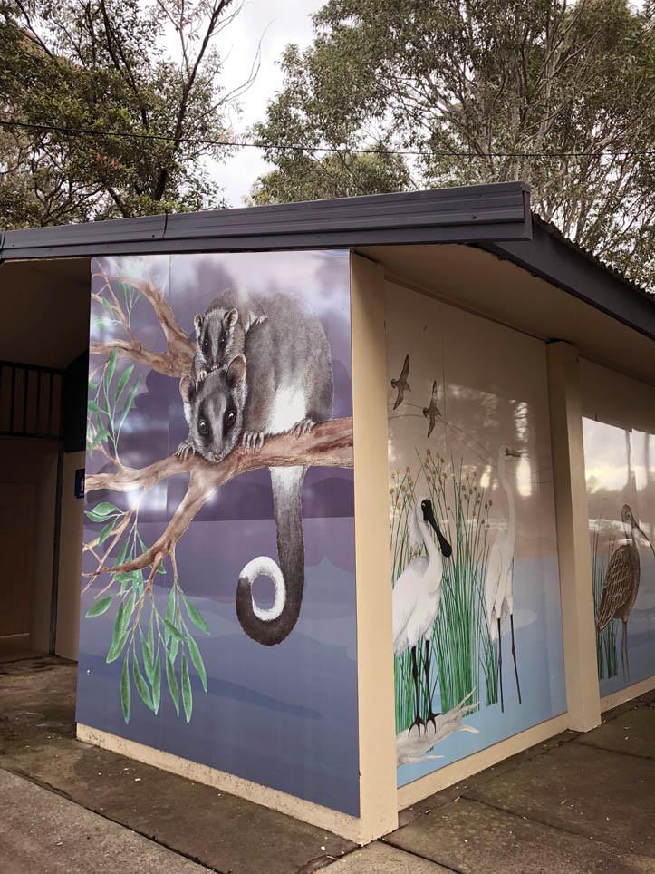 Ringtail possum and joey panel