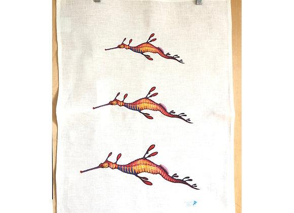 Weedy Seadragon Tea Towel