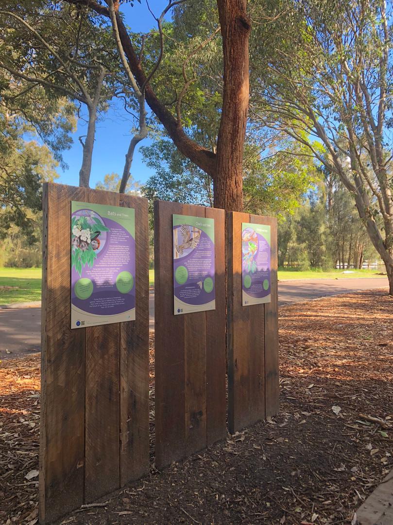 Various wildlife information signs
