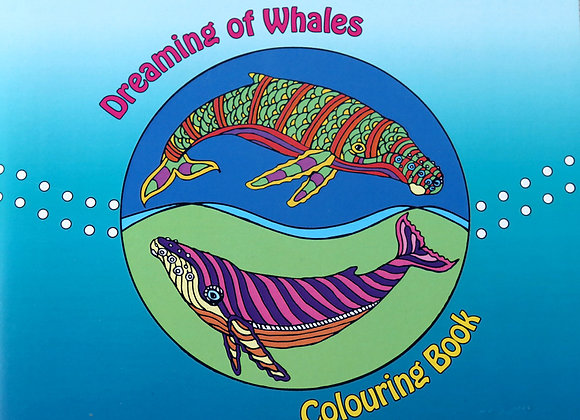 'Dreaming of Whales' Colouring Book