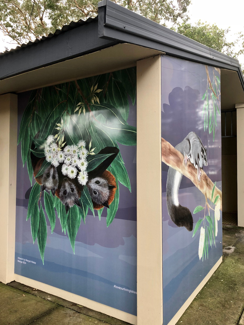 Bats and Squirrel glider panel