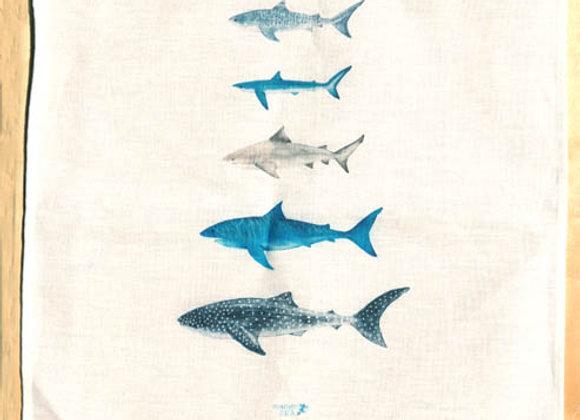 Shark Tribe100% Linen Tea Towel