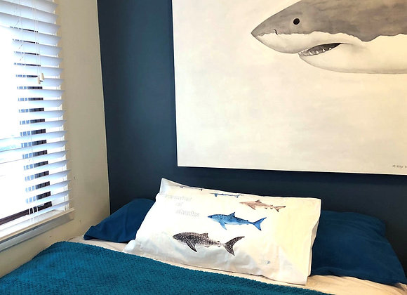 'Dreaming of Sharks' pillow case