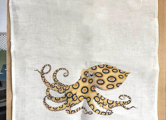 Bue-ringed octopus tea towel