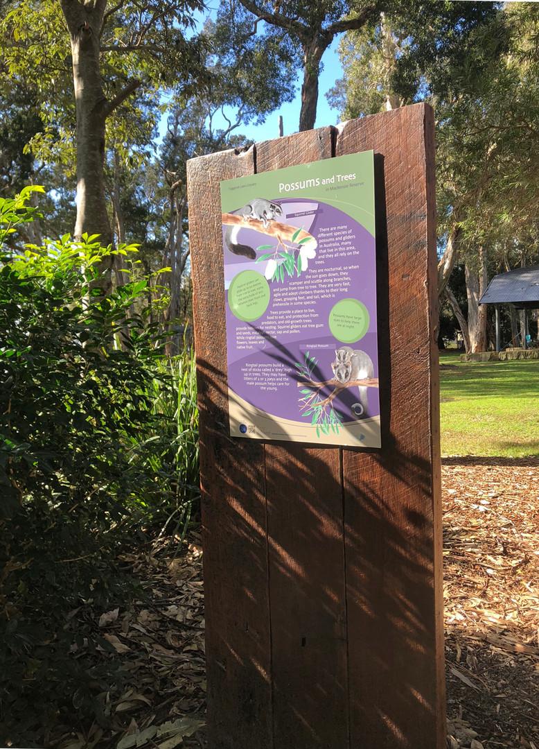Possum information sign