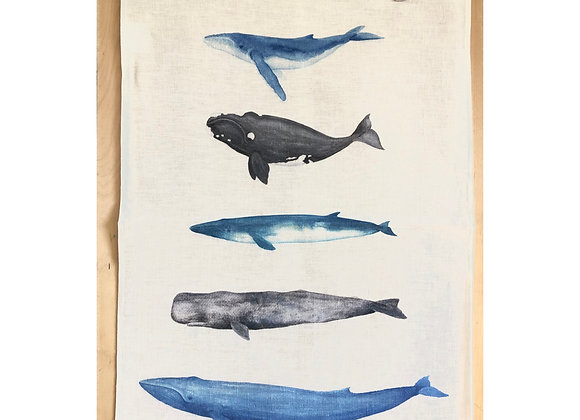 Whale Tribe Tea Towel