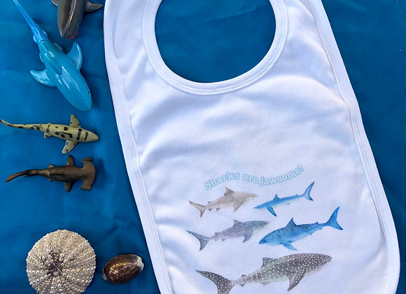 """Sharks are jawsome"" Bib"