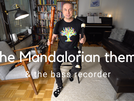 The Mandalorian theme & the BASS RECORDER