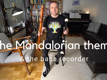 The Mandalorian theme & the BASS RECORDER