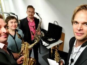 Kesätöitä saksofonikvartetilla