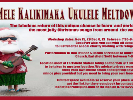 The Return of the Mela Kalikimaka Ukulele Meltdown