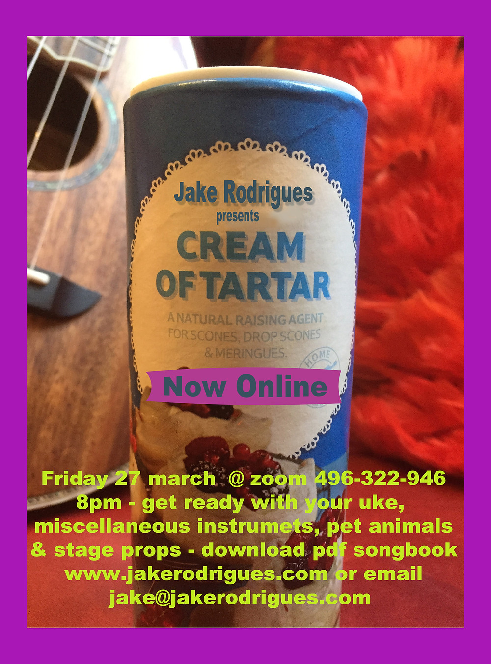 Learn to play Jake's song live on the uKe or any other instrument you have !