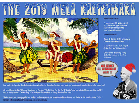 The Mela Kalikimaka Returns for it's 3rd Year !