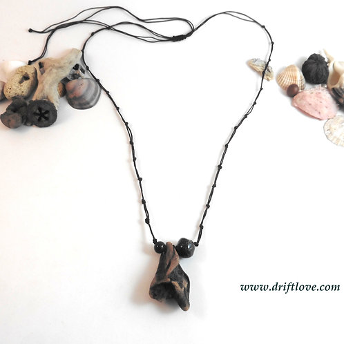 Red Wood Talisman Long Necklace