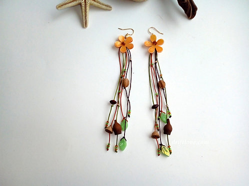 Flower and Seeds Earrings