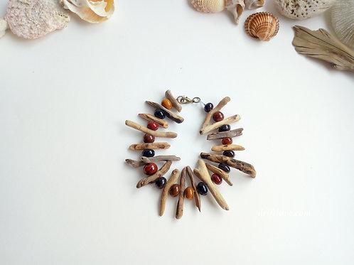 Boho brown driftwood bracelet