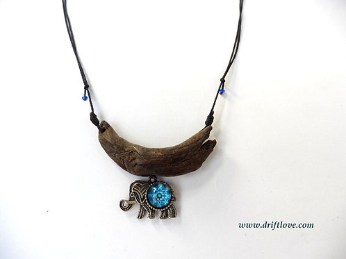 The Blue Elephant Necklace