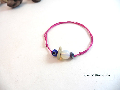 The Eye on the Pink Healing Bracelet