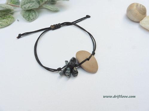 Snow Flake Obsidian Healing Bracelet