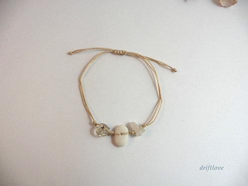 White Pebble on Sandy Beach Bracelet