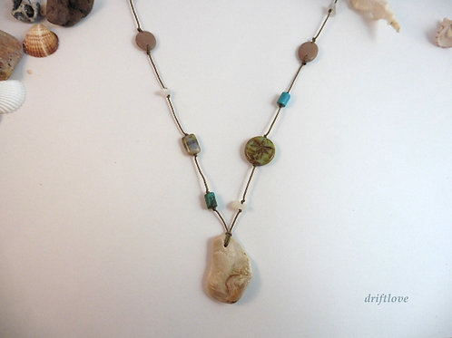 Long Fossil Celebration Necklace