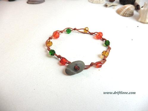 Orange Many Beads Bracelet