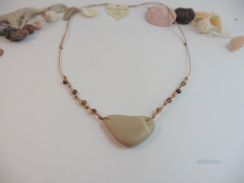 Pebble and Tiger Eye Necklace